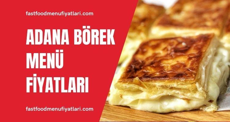 Adana Börek Menü Fiyatları